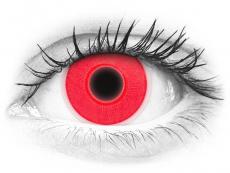 ColourVUE Crazy Glow Red - nedioptrické (2čočky)
