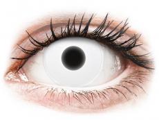 Kontaktní čočky Maxvue Vision - ColourVUE Crazy Glow White - nedioptrické (2čočky)