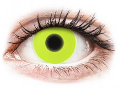 Kontaktní čočky Maxvue Vision - ColourVUE Crazy Glow Yellow - nedioptrické (2čočky)