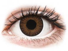 Hnědé kontaktní čočky - dioptrické - TopVue Color - Brown - dioptrické jednodenní (10 čoček)