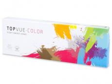 TopVue Color - Brown - dioptrické jednodenní (10 čoček)