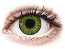 Zelené kontaktní čočky - nedioptrické - TopVue Color - Fresh Green - nedioptrické jednodenní (10 čoček)