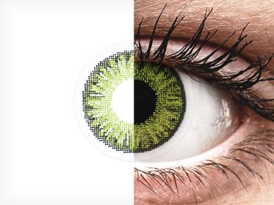 TopVue Color - Fresh Green - nedioptrické jednodenní (10 čoček)