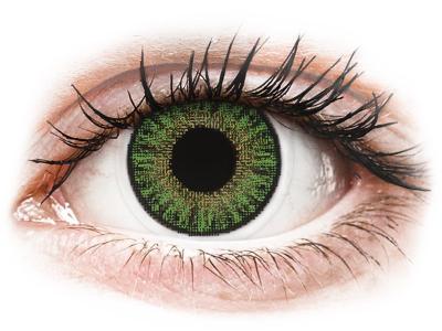 TopVue Color - Green - dioptrické jednodenní (10 čoček)