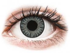Šedé kontaktní čočky - dioptrické - TopVue Color - Soft Grey - dioptrické jednodenní (10 čoček)