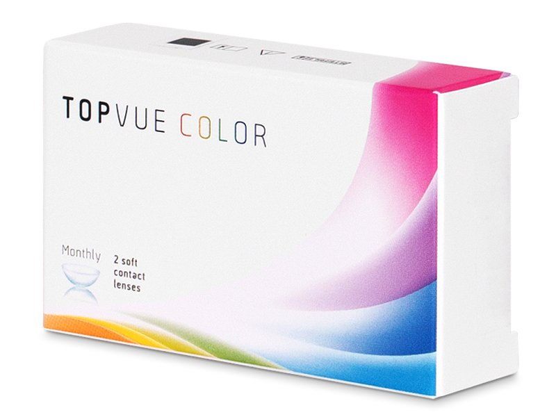 TopVue Color - Brown - dioptrické (2 čočky)