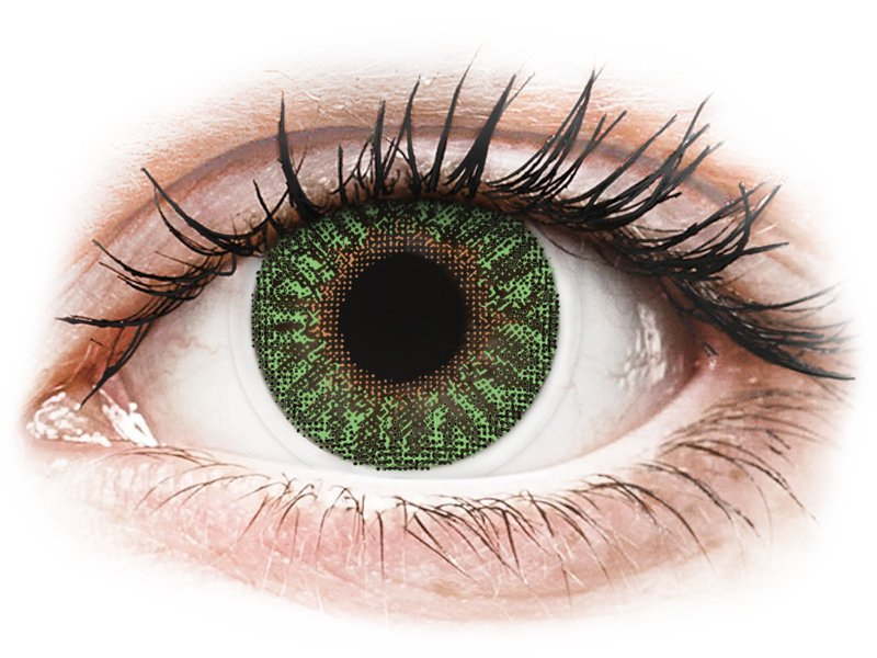 TopVue Color - Green - dioptrické (2 čočky) - Barevné kontaktní čočky