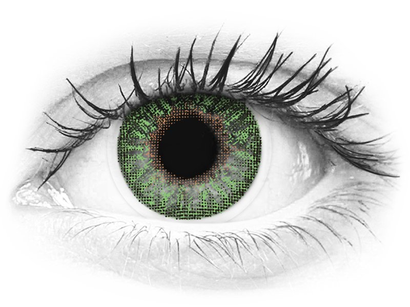 TopVue Color - Green - dioptrické (2čočky) - TopVue Color - Green - dioptrické (2čočky)