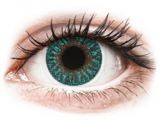 Zelené kontaktní čočky - dioptrické - TopVue Color - Turquoise - dioptrické (2 čočky)