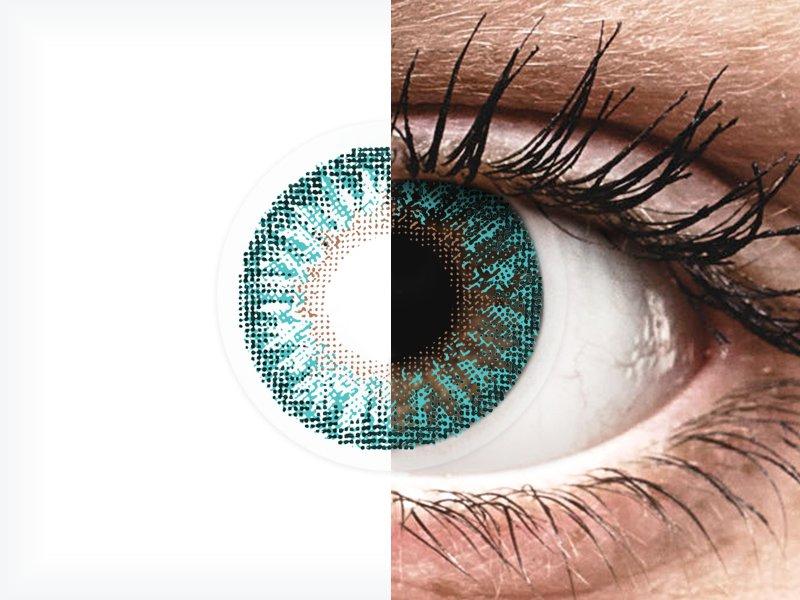 TopVue Color - Turquoise - dioptrické (2 čočky)