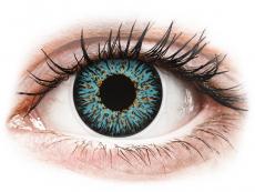 Barevné kontaktní čočky - dioptrické - ColourVUE Glamour Aqua - dioptrické (2čočky)