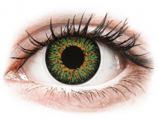 Zelené kontaktní čočky - nedioptrické - ColourVUE Glamour Green - nedioptrické (2čočky)