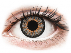 Šedé kontaktní čočky - dioptrické - ColourVUE Glamour Grey - dioptrické (2čočky)