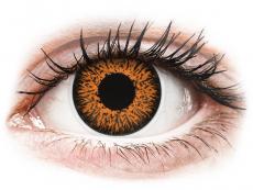 Hnědé kontaktní čočky - dioptrické - ColourVUE Glamour Honey - dioptrické (2čočky)