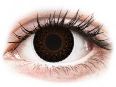Barevné kontaktní čočky - dioptrické - ColourVUE Eyelush Choco - dioptrické (2čočky)