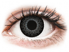 Šedé kontaktní čočky - dioptrické - ColourVUE Eyelush Grey - dioptrické (2čočky)