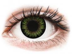 Barevné kontaktní čočky - nedioptrické - ColourVUE BigEyes Party Green - nedioptrické (2čočky)