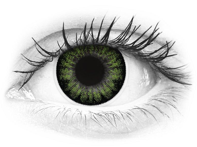 ColourVUE BigEyes Party Green - nedioptrické (2čočky) - ColourVUE BigEyes Party Green - nedioptrické (2čočky)