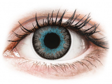 Barevné kontaktní čočky - dioptrické - ColourVUE Fusion Blue Gray - dioptrické (2čočky)