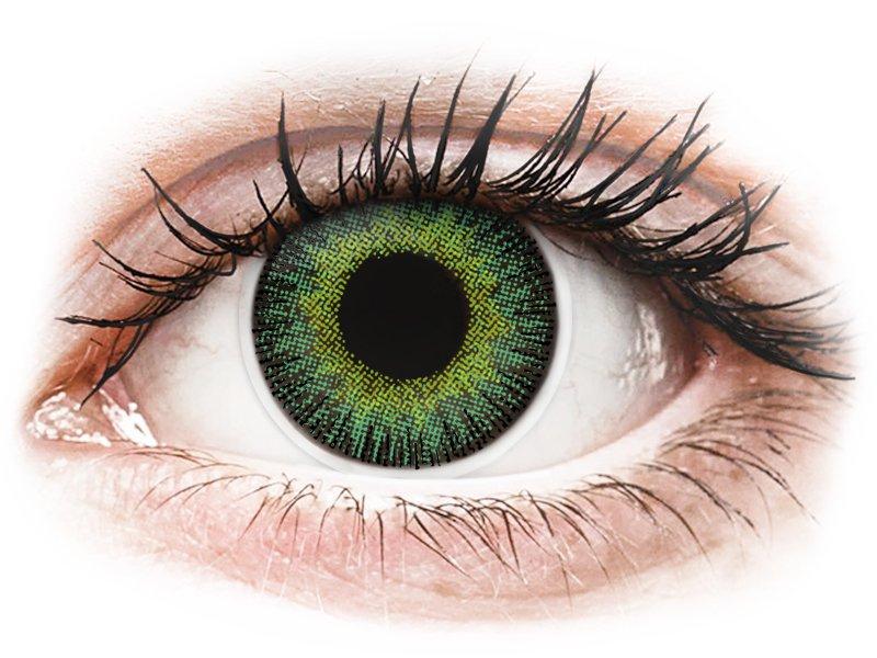 ColourVUE Fusion Green Yellow - dioptrické (2čočky) - Barevné kontaktní čočky