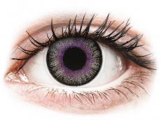 Fialové kontaktní čočky - nedioptrické - ColourVUE Fusion Violet Gray - nedioptrické (2čočky)