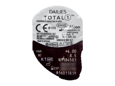 Dailies TOTAL1 (30čoček) - Vzhled blistru s čočkou