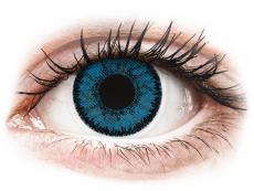 Modré kontaktní čočky - dioptrické - SofLens Natural Colors Topaz - dioptrické (2čočky)