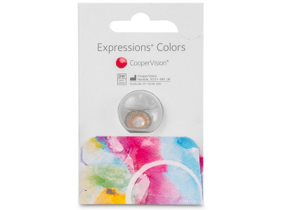 Expressions Colors Hazel - nedioptrické (1 čočka)