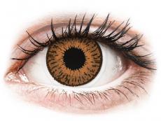 Hnědé kontaktní čočky - dioptrické - Expressions Colors Hazel - dioptrické (1 čočka)