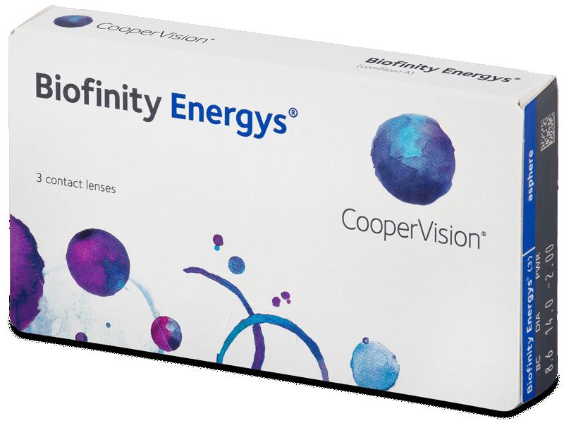 Biofinity Energys (3 čočky) - Měsíční kontaktní čočky