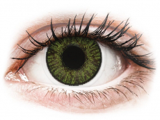 Barevné kontaktní čočky - FreshLook ColorBlends Green - dioptrické (2čočky)