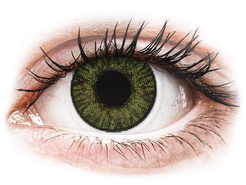 FreshLook ColorBlends Green - dioptrické (2čočky) - Barevné kontaktní čočky