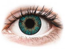 Barevné kontaktní čočky - dioptrické - FreshLook ColorBlends Turquoise - dioptrické (2čočky)