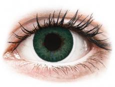 Zelené kontaktní čočky - dioptrické - FreshLook Dimensions Carribean Aqua - dioptrické (6čoček)