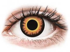 Speciální barevné čočky - nedioptrické - ColourVUE Crazy Lens - Orange Werewolf - nedioptrické jednodenní (2čočky)