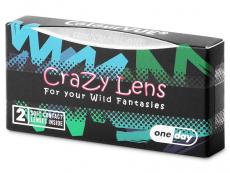 ColourVUE Crazy Lens - Orange Werewolf - nedioptrické jednodenní (2čočky)
