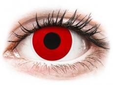 Červené kontaktní čočky - nedioptrické - ColourVUE Crazy Lens - Red Devil - nedioptrické jednodenní (2čočky)