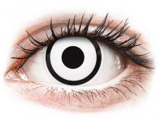 Bílé kontaktní čočky - nedioptrické - ColourVUE Crazy Lens - White Zombie - nedioptrické jednodenní (2čočky)
