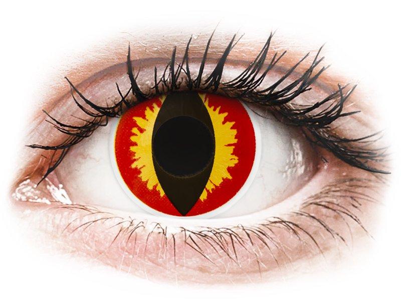ColourVUE Crazy Lens - Dragon Eyes - nedioptrické jednodenní (2čočky) - Barevné kontaktní čočky