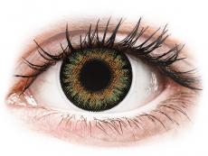 Hnědé kontaktní čočky - dioptrické - ColourVue One Day TruBlends Green - dioptrické (10čoček)