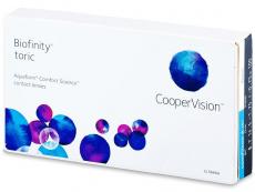Měsíční levné kontaktní čočky - Biofinity Toric (6čoček)