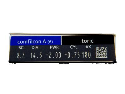 Biofinity Toric (6čoček) - Náhled parametrů čoček