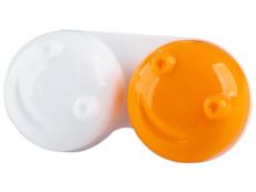 Příslušenství k čočkám - Pouzdro na čočky 3D - oranžové