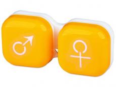 Pouzdra a kazetky - Pouzdro na čočky muž a žena - žluté