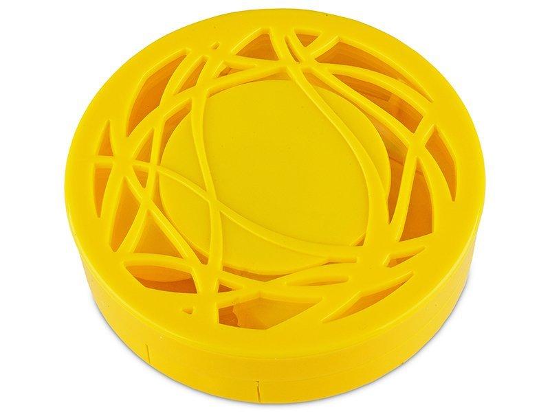 Kazetka s ornamentem - žlutá