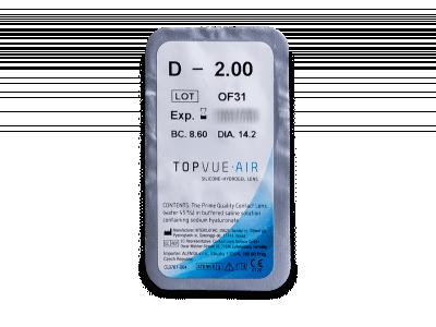 TopVue Air (6 čoček) - Vzhled blistru s čočkou