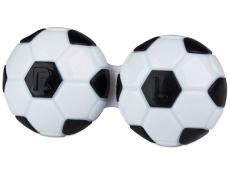 Pouzdra a kazetky - Pouzdro na čočky Fotbal - černé