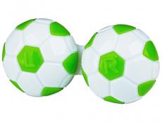 Pouzdra a kazetky - Pouzdro na čočky Fotbal - zelené