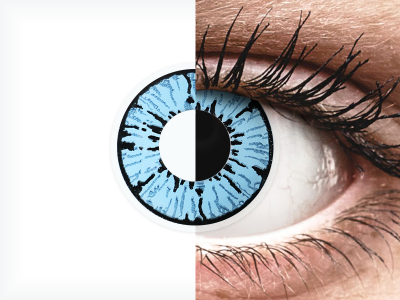 ColourVUE Crazy Lens - Blizzard - nedioptrické (2 čočky)