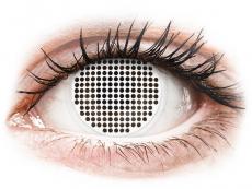 Bílé kontaktní čočky - nedioptrické - ColourVUE Crazy Lens - White Screen - nedioptrické (2čoček)